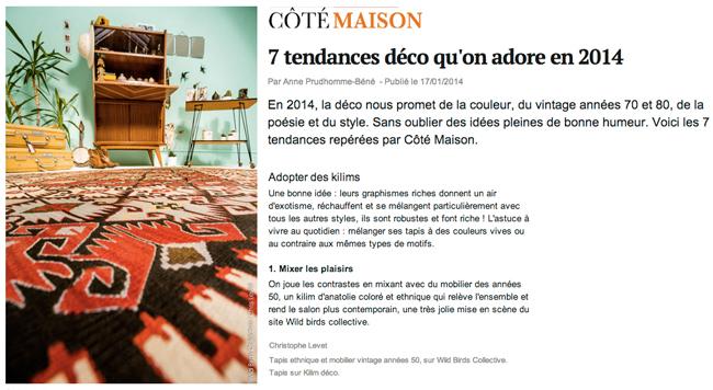 Article CoteMaison Tendances 2014