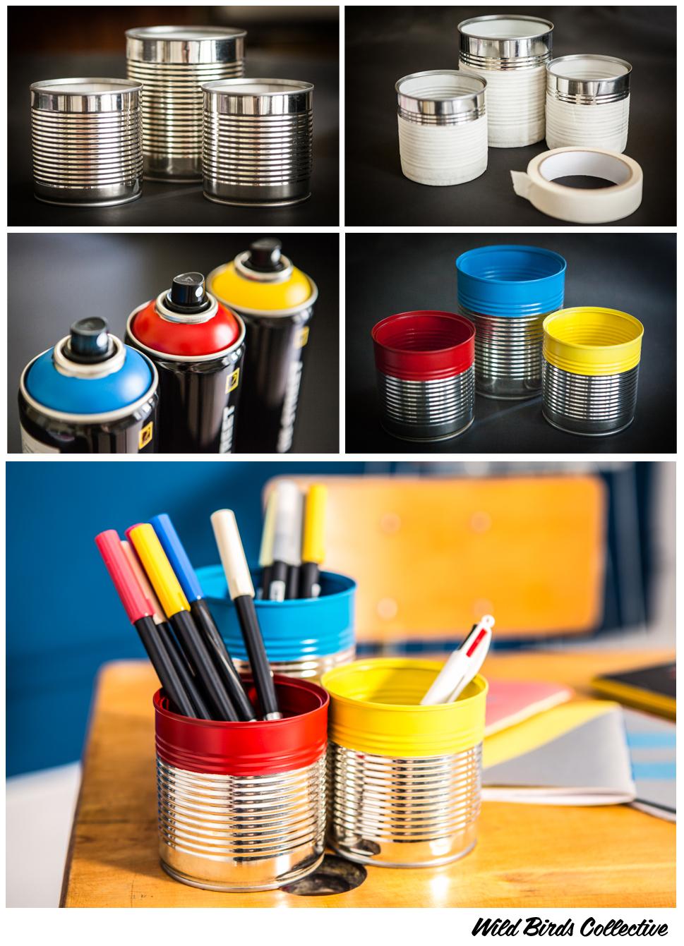 diy faire des pots crayons color s wild birds collective. Black Bedroom Furniture Sets. Home Design Ideas