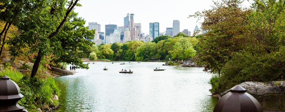 Central park, lake
