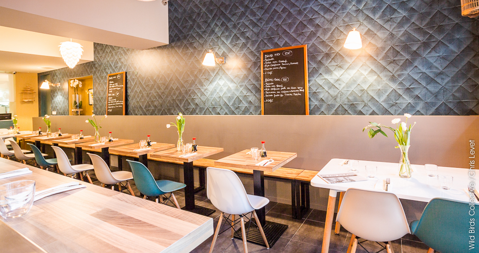 Grenoble d coration du restaurant little ko wild birds collective - Deco de restaurant ...