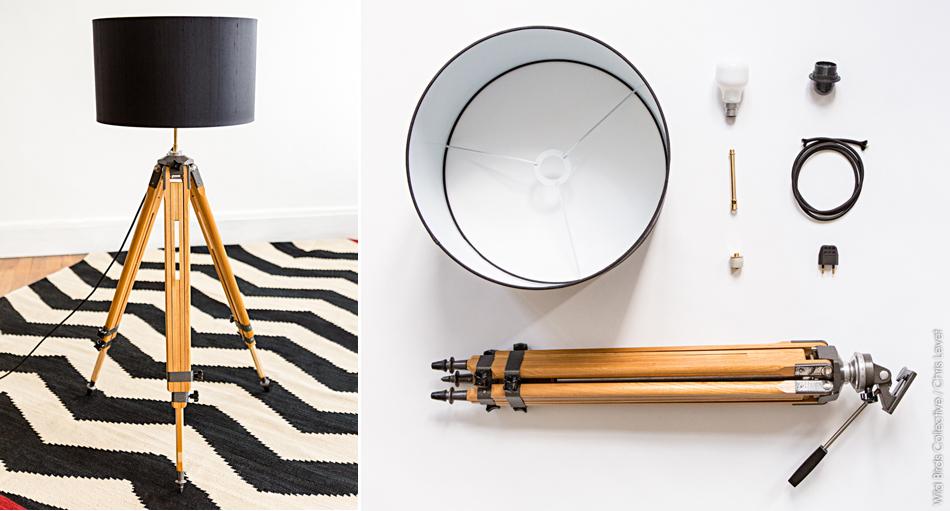 diy lampe tr pied wild birds collective. Black Bedroom Furniture Sets. Home Design Ideas