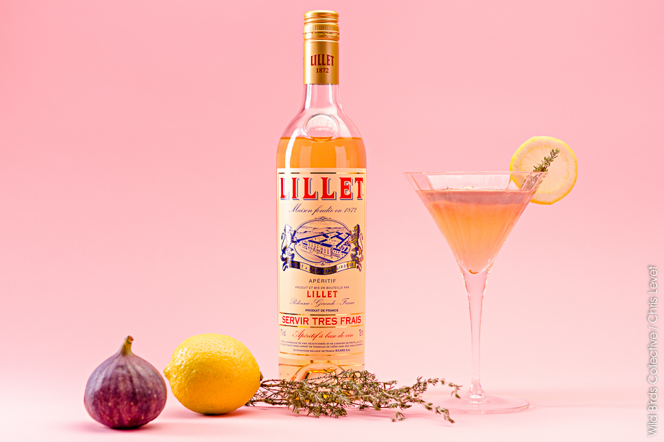 Cocktail Lillet Thym Figue