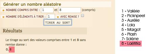 Resultat Concours My Little Paris