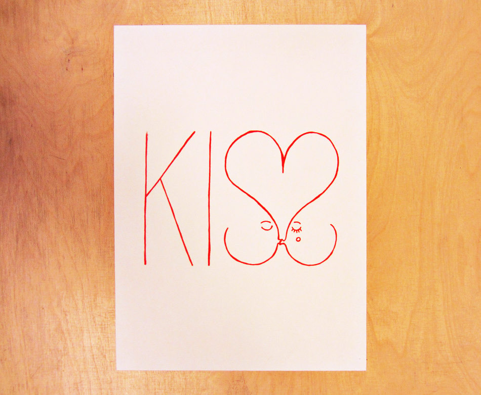 Denis Carrier serigraphie Kiss
