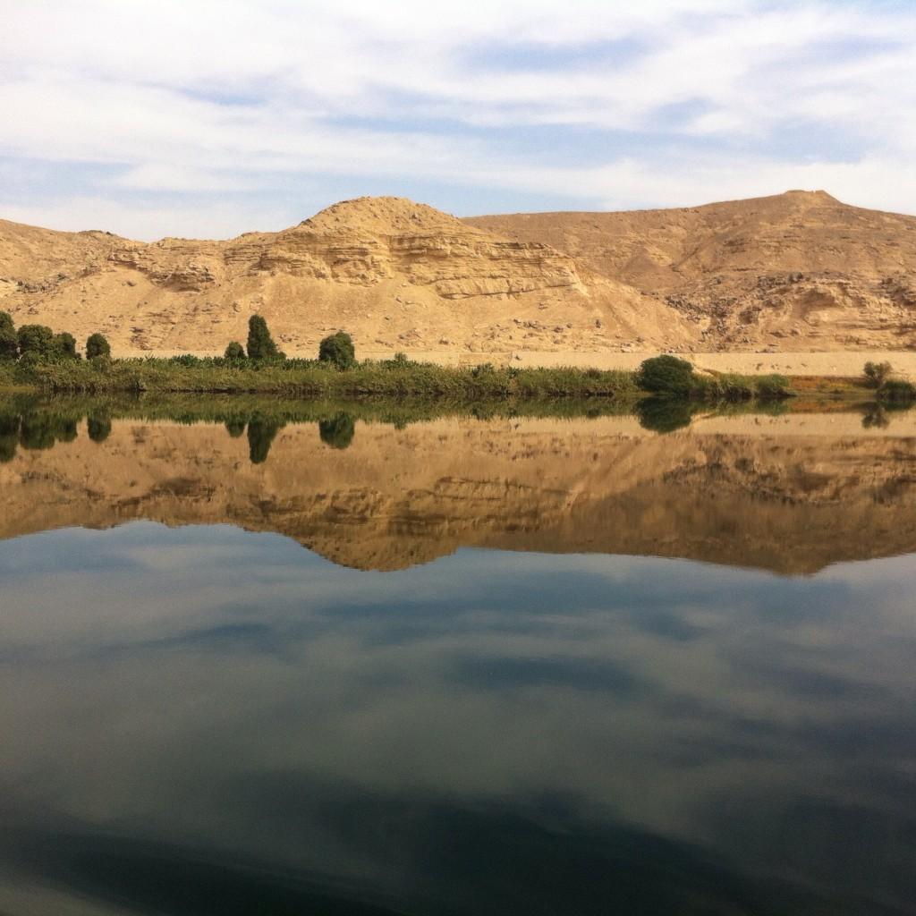 Paysage du Nil en Egypte