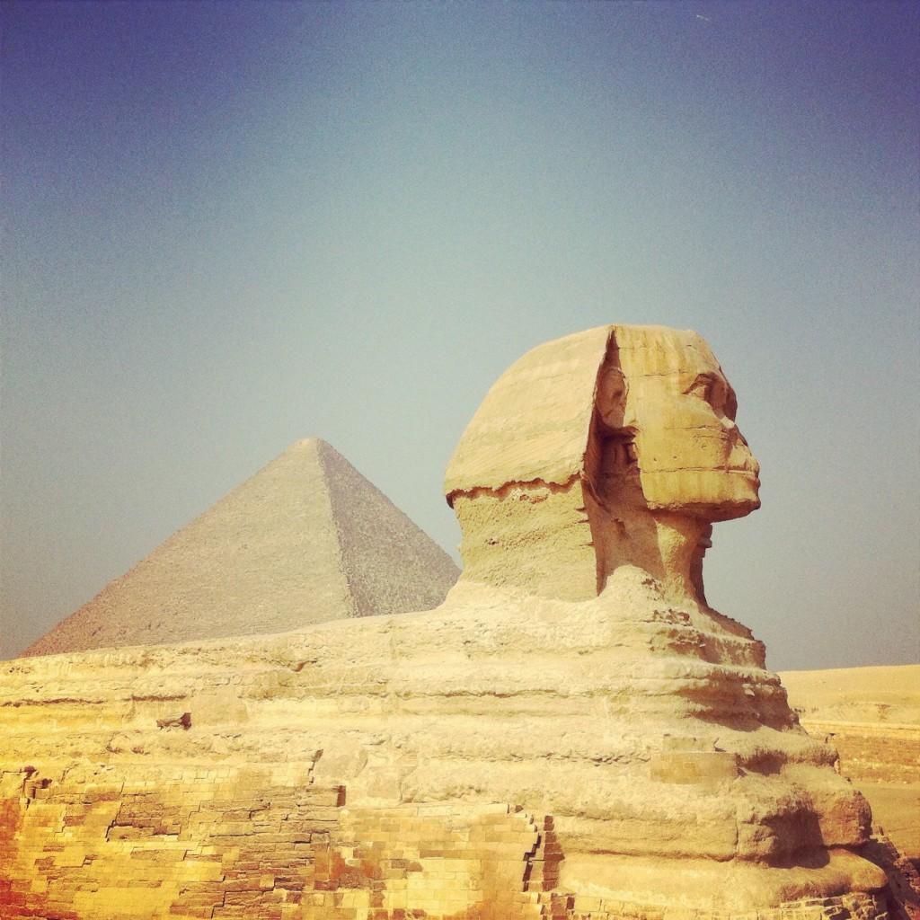 Sphinx et Pyramides de Gizeh Egypte
