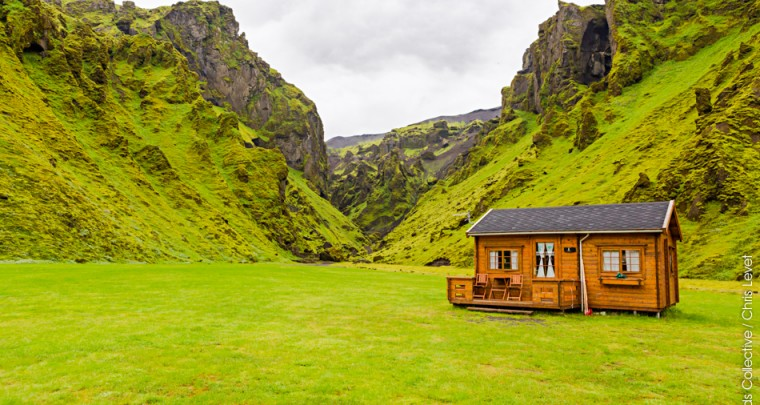 Dormir à Thakgil au cœur des montagnes d'Islande