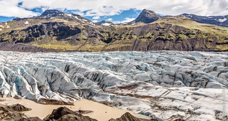 Islande : Le glacier de Svinafellsjökull