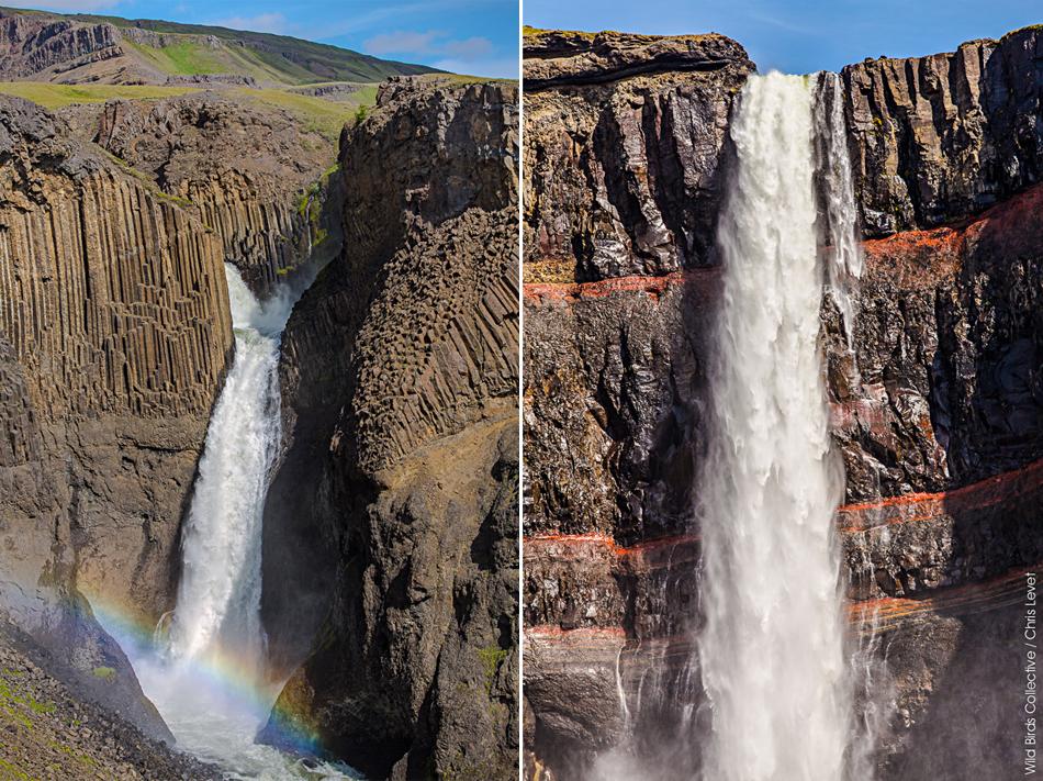 Islande Litlanesfoss et Hengifoss