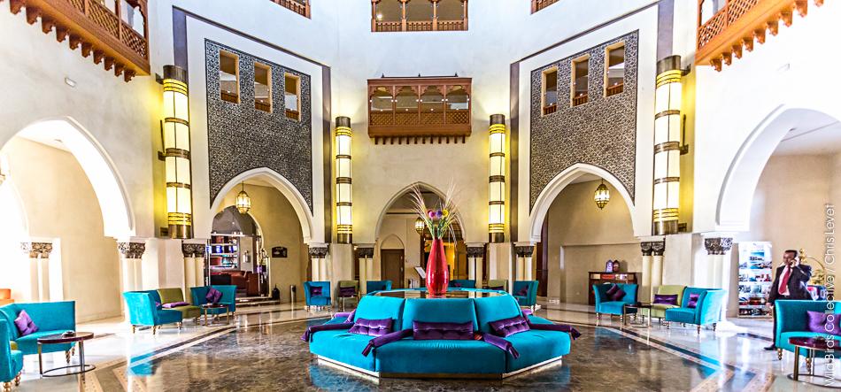 Entrée du Palms plaza Hôtel à Marrakech