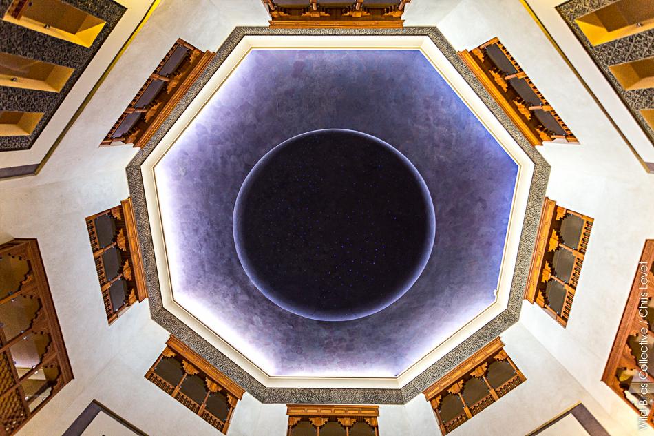 Plafond de l'entrée du Palms plaza Hôtel