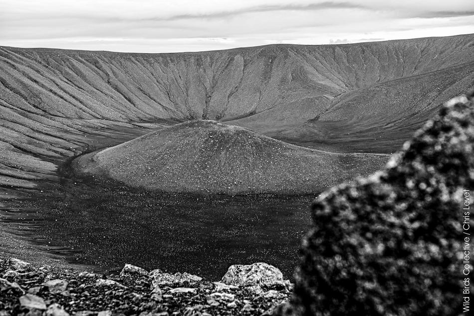 Hverfjall Myvatn Islande