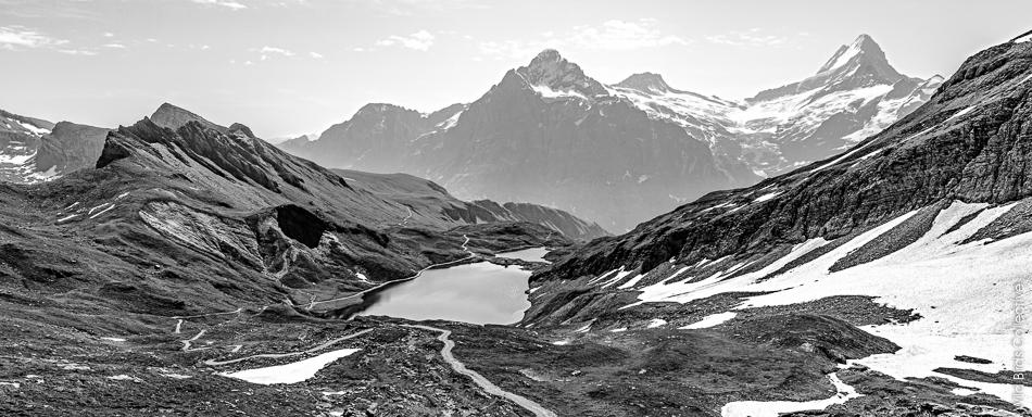 Lac Bachalp Schreckhorn Suisse