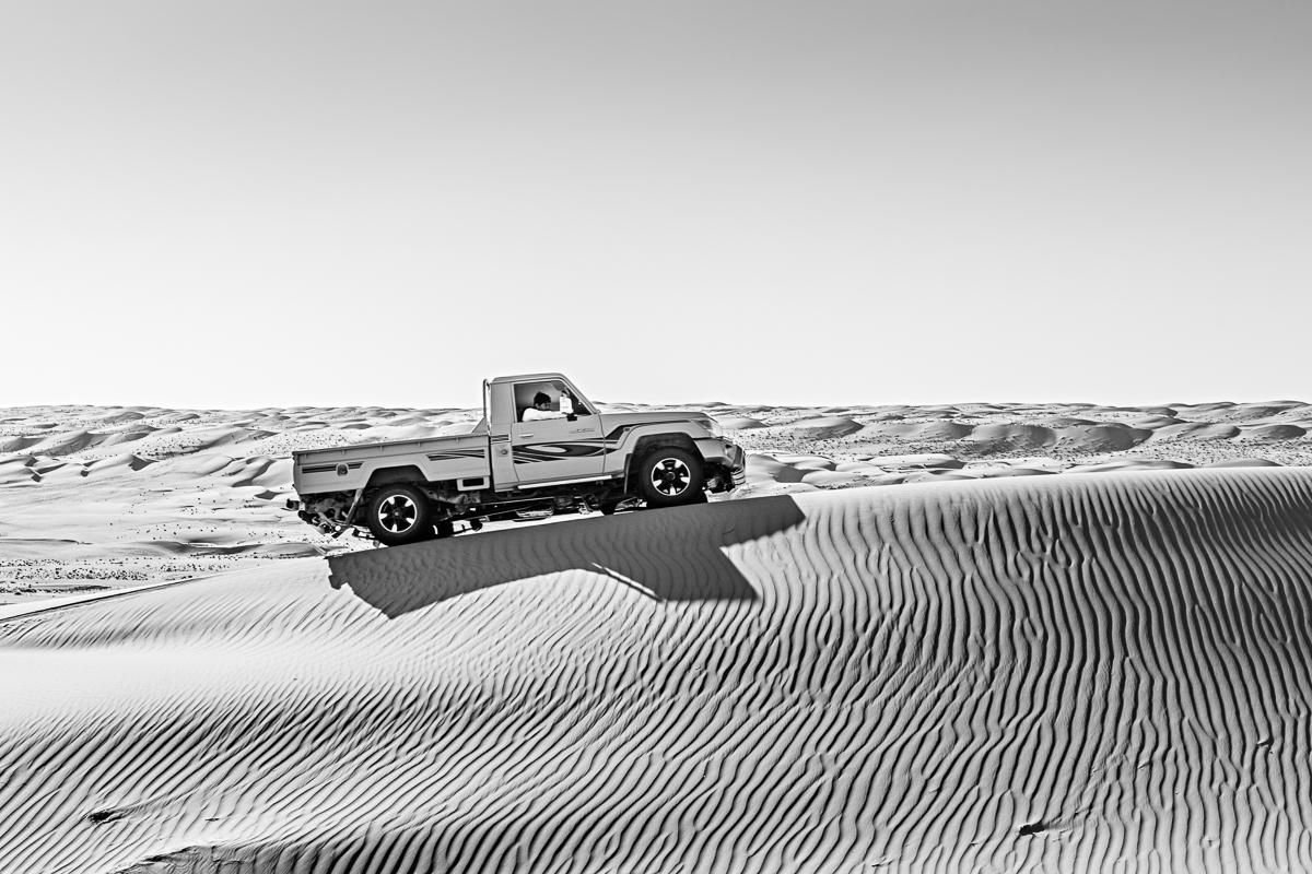 4x4 dans le désert de Wahiba Sands