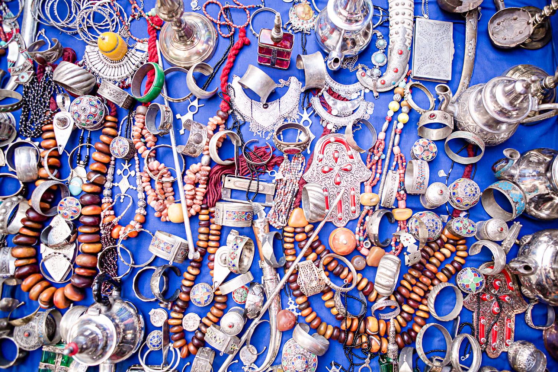 Bijoux dans le souk de Ouarzazate