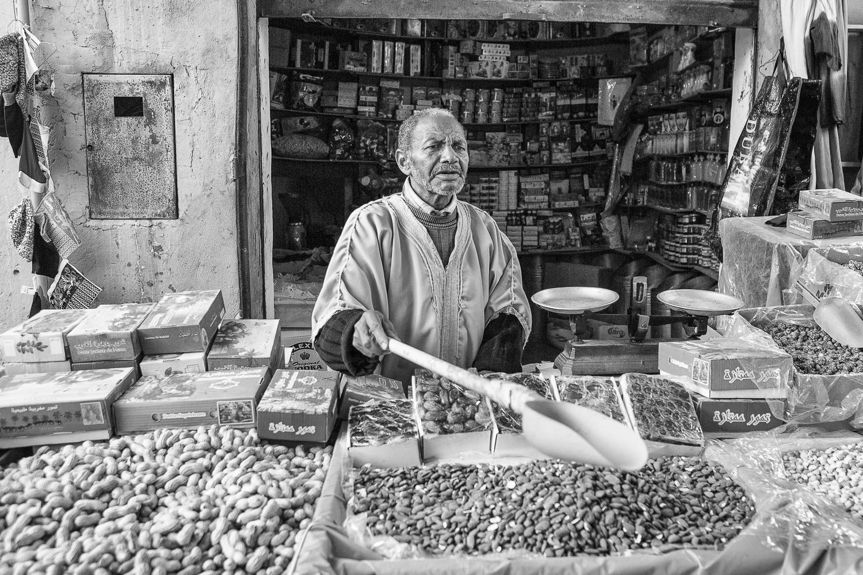 Amandes cacahuètes et dattes à Ouarzazate