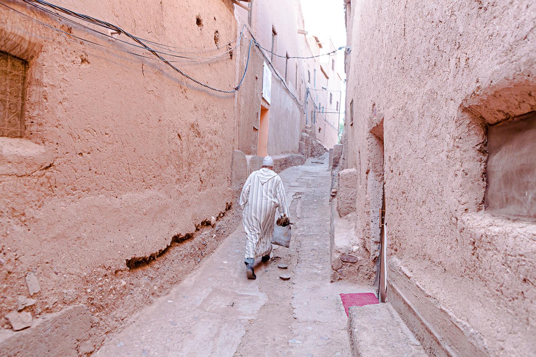 Rue de Taourirt à Ouarzazate