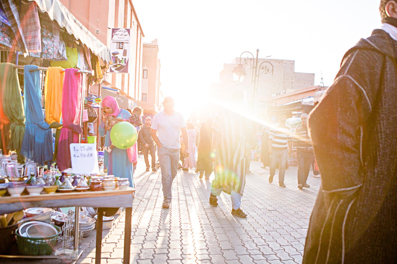 Rue principale du souk de Ouarzazate