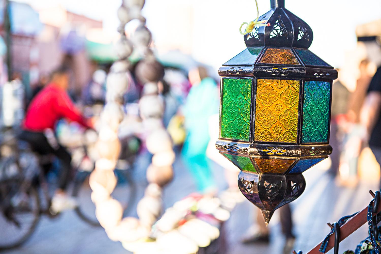Lampe orientale au Maroc