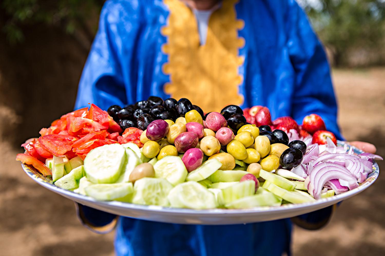 Pause salade au Maroc