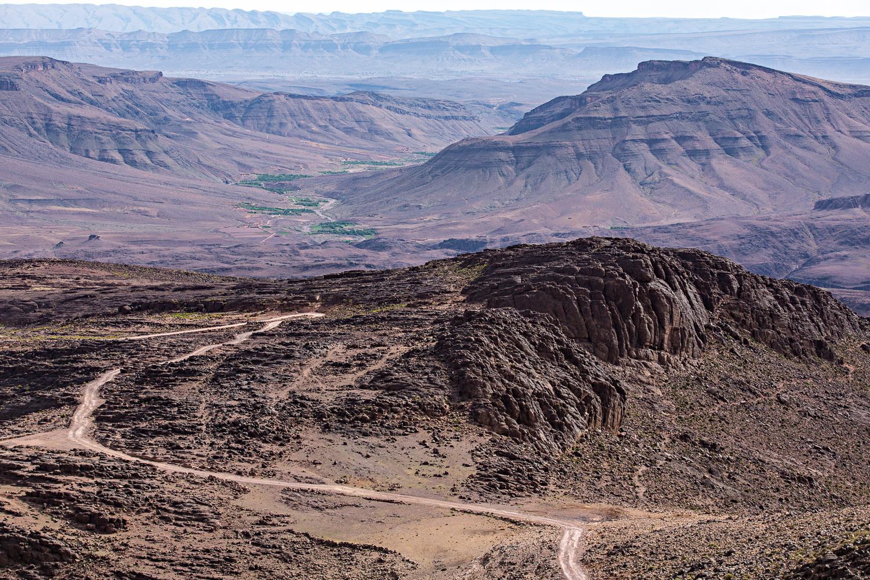 Route du Djebel Saghro au Maroc