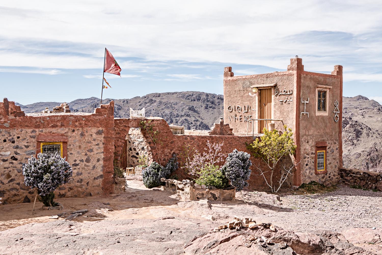 Gîte du col Tizi'n Tazazert au Maroc